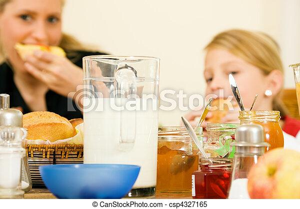 colazione, detenere, famiglia - csp4327165