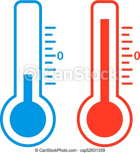 cold and hot temperature vector icons set vectors search clip art rh canstockphoto com hot and cold water clipart hot or cold clipart