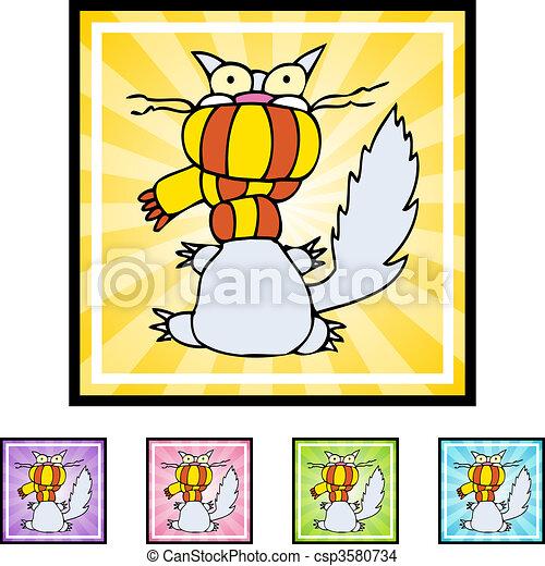 Cold Cat Clipart Csp3580734