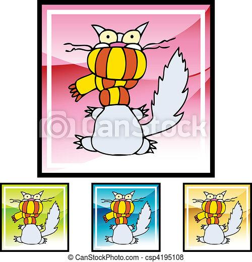 Cold Cat - csp4195108