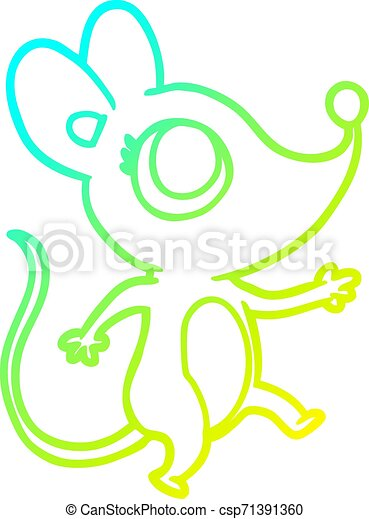 cold gradient line drawing cute mouse - csp71391360