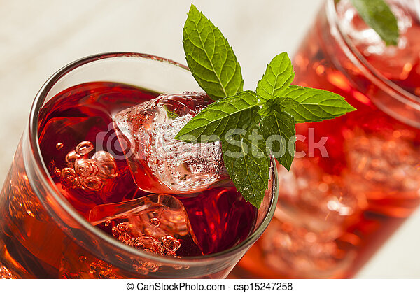 Cold Refreshing Berry Hibiscus Ice Tea Cold Refreshing Berry
