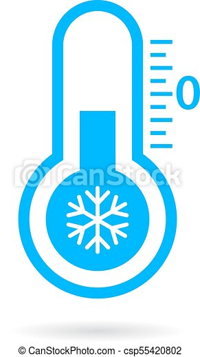 cold temperature vector icon isolated on white background