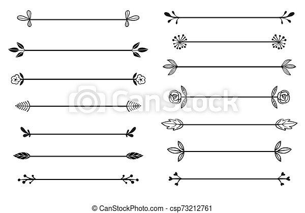 Colección de vectores de las fronteras dibujadas a mano en el estilo boceto - csp73212761
