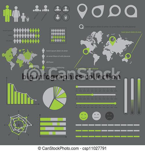 colección, infographics - csp11027791