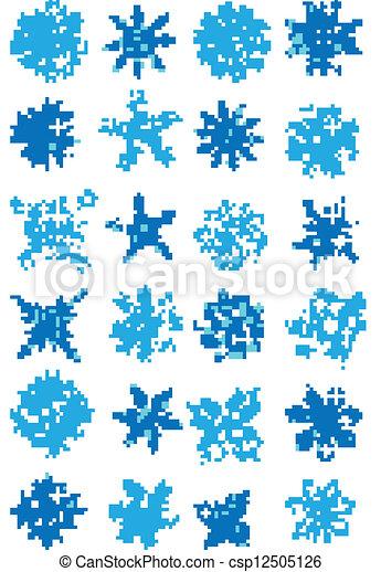 Recolección de copos de nieve vector - csp12505126