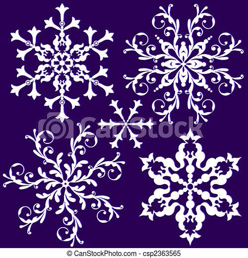 Copo de nieve de colección (vector) - csp2363565