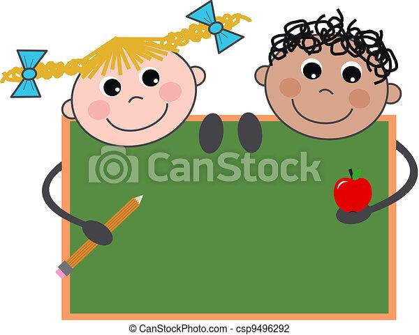 Niños de escuela - csp9496292