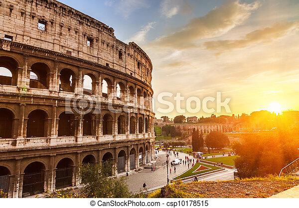 Coliseum at sunset - csp10178515