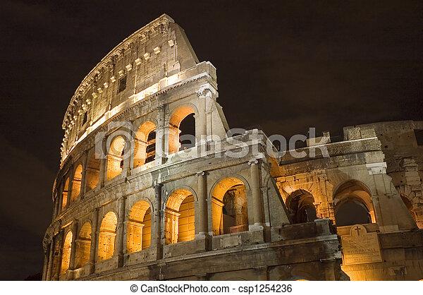 Coliseum in Rome in night - csp1254236