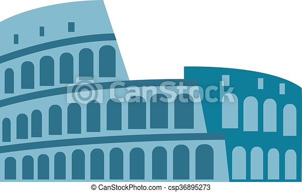 Coliseum isolated vector illustration. - csp36895273