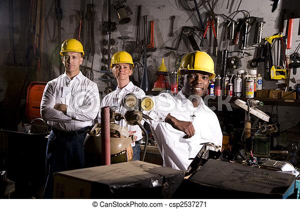 collègues, bureau, entretien, secteur - csp2537271
