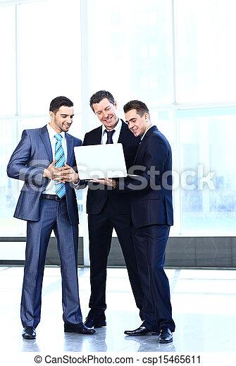 collègues, sien, réunion affaires, travail, -, directeur, discuter - csp15465611