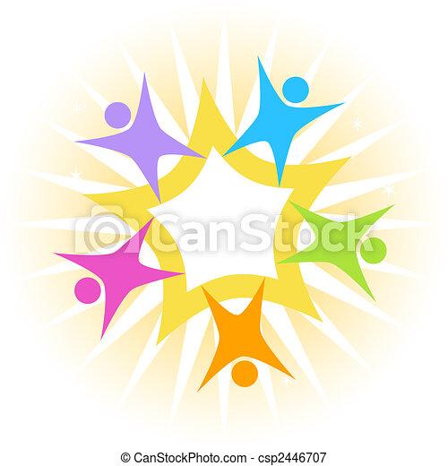 collaboration, étoile - csp2446707