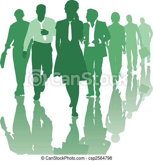collaboration, affaires gens, équipe - csp2564798