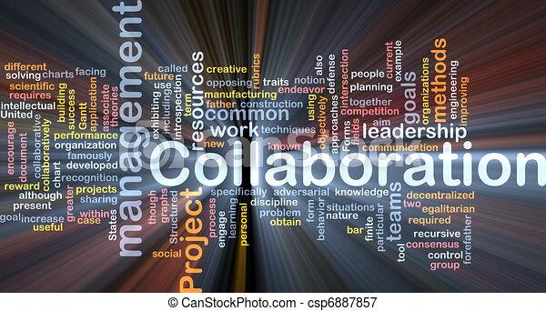 Collaboration management background concept glowing - csp6887857