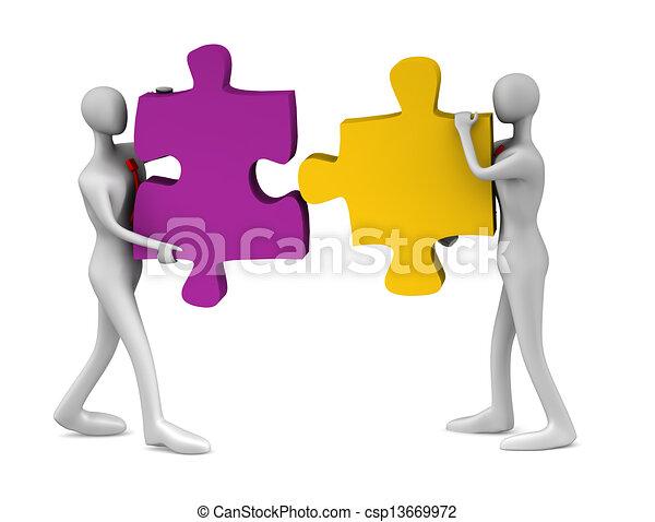 collaboration, reussite - csp13669972