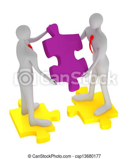 collaboration, reussite - csp13680177