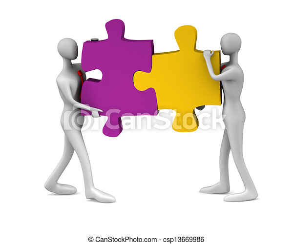 collaboration, reussite - csp13669986