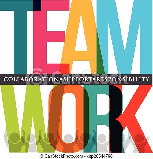 collaboration, typographie - csp26544798