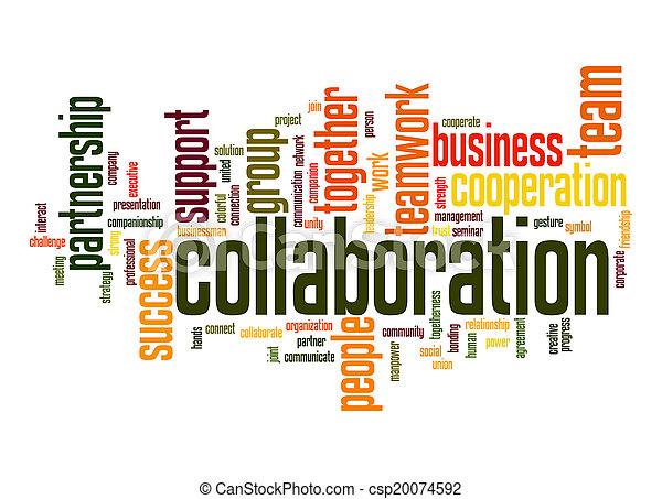 Collaboration word cloud - csp20074592