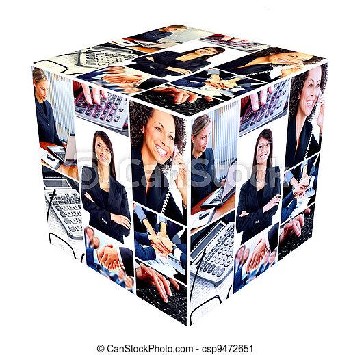 collage., グループ, ビジネス 人々 - csp9472651