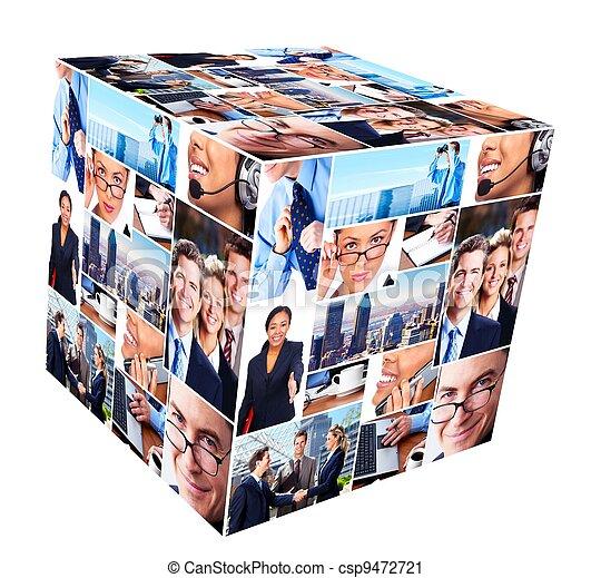 collage., グループ, ビジネス 人々 - csp9472721
