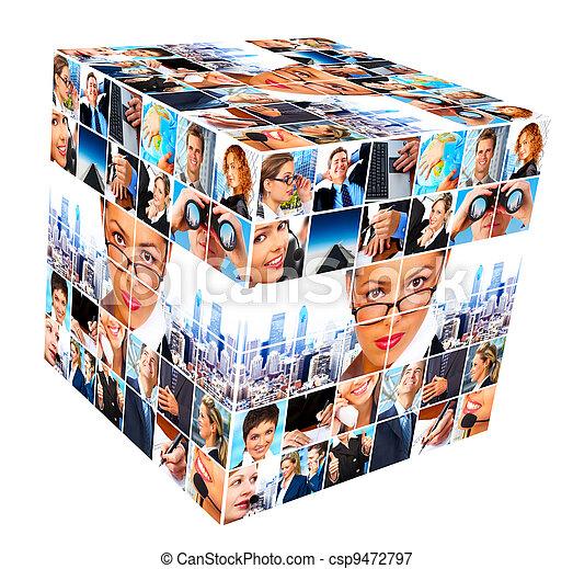 collage., グループ, ビジネス 人々 - csp9472797