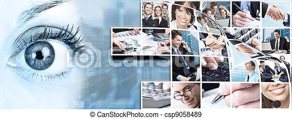 collage., 人々ビジネス, チーム - csp9058489