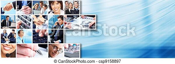 collage., 人々ビジネス, チーム - csp9158897