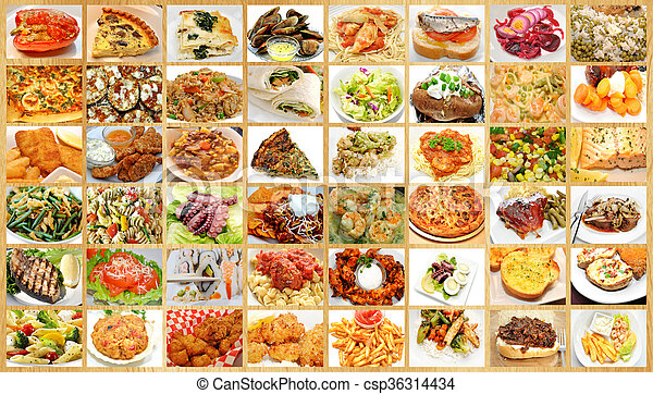 Collage alimentos restaurante collage diferente - Different types of cuisines in the world ...