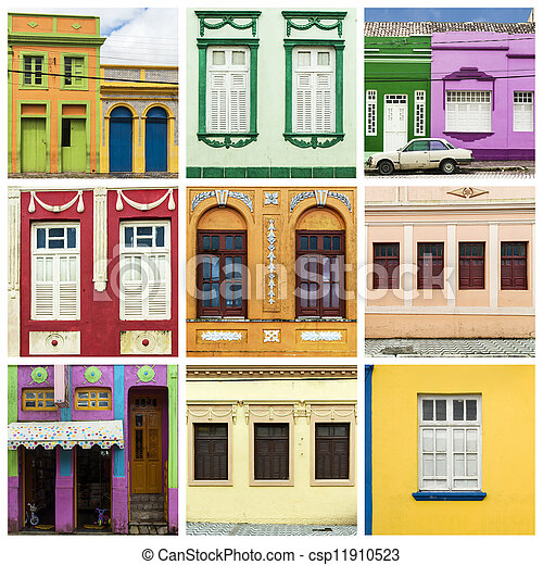 Collage de casa colorida - csp11910523