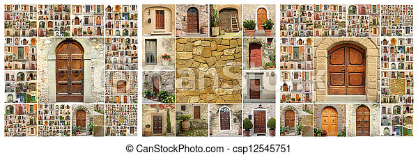 Collage Abstract House - csp12545751