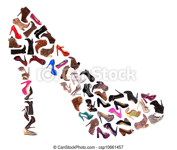 collage, chaussures dames - csp10661457