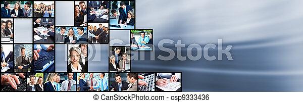 collage., comércio pessoas, equipe - csp9333436