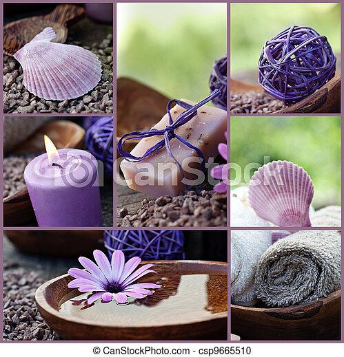 collage, dayspa, violet - csp9665510