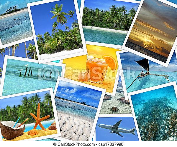 Collage de destinos tropicales - csp17837998