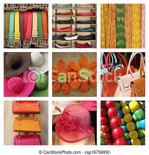 collage, estate, moda - csp19759950