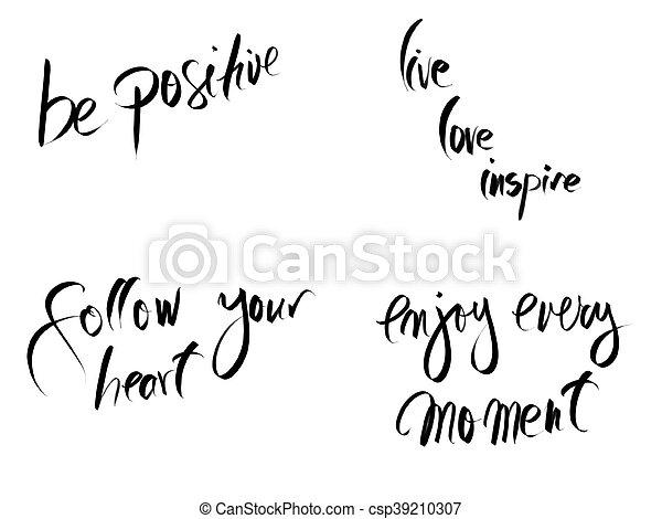 Collage De Fotos Con Mensajes Motivacionales Aislados En