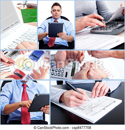 Business Collage. - csp8477708