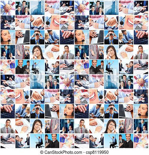 collage., grupa, handlowy zaludniają - csp8119950
