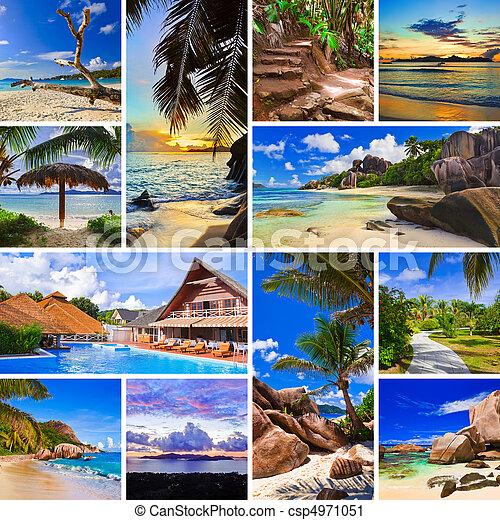 collage, immagini, spiaggia, estate - csp4971051