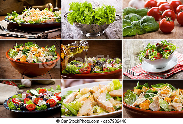 collage, insalata - csp7932440
