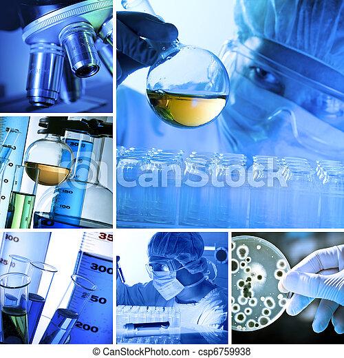 Collage de laboratorio - csp6759938