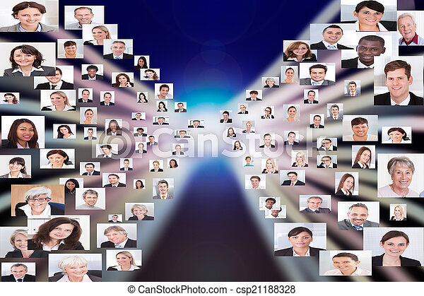 Collage Of Business People - csp21188328