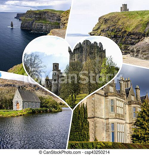 Collage of Ireland images (my photos) - csp43250214