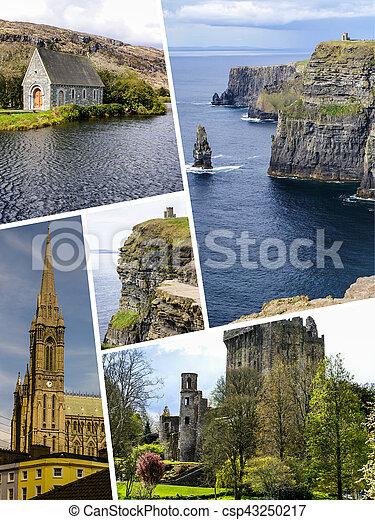 Collage of Ireland images (my photos) - csp43250217