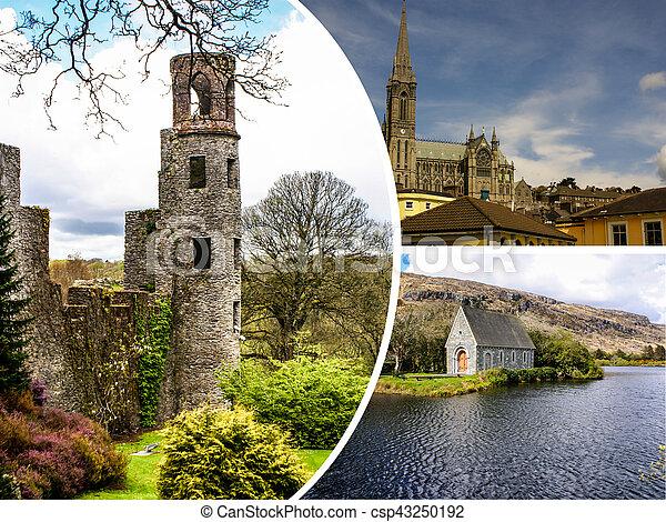 Collage of Ireland images (my photos) - csp43250192