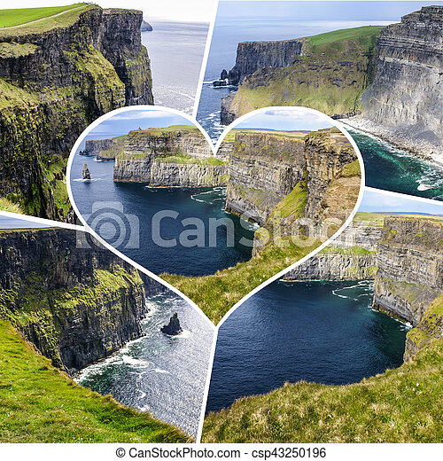 Collage of Ireland images (my photos) - csp43250196