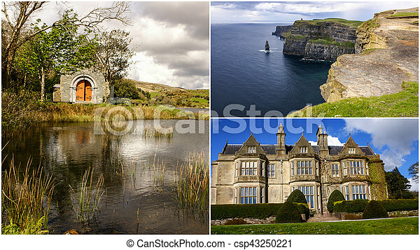 Collage of Ireland images - csp43250221